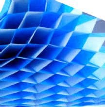 Honeycomb Paper x 1. 17cm x 25cmWhite/Blue Duo Colours